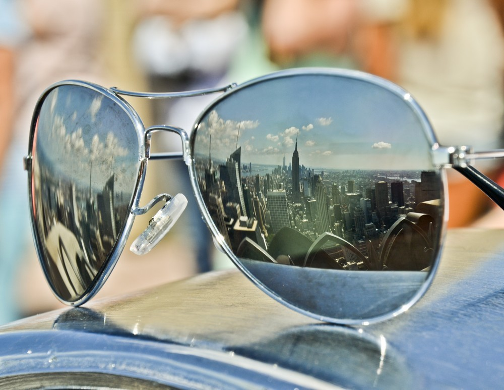 "New York City Wall Decor Sunglasses Print- ""New York View"""