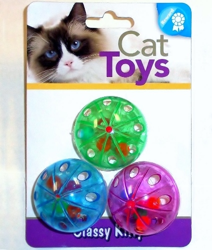 Klassy Kitty Plastic Ball 3 Pack New 42122