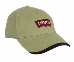 NEW NWT LEVI'S RED TAB MEN'S CLASSIC COTTON ADJUSTABLE BASEBALL HAT CAP TAUPE
