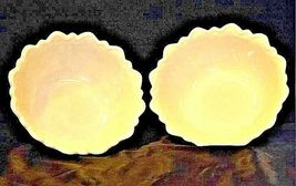 Vintage 2 nine inch white glass bowls with floral design AA19-1400 image 6