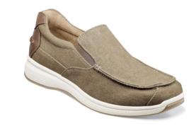 Florsheim Shoes Great Lakes Canvas Moc Toe Slip On Sand 13327-269  - $85.00