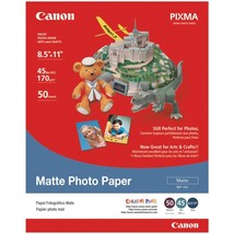 "Canon Matte Photo Paper (8.5""l X 11""w; 50 Pk) CND7981A004 - $23.64"