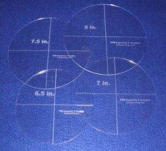 """4 Piece Circle Set 6.5"""", 7"""", 7.5"""", 8"""" 1/8"""" Acrylic - Quilting Templates - $40.99"""