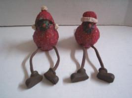 "Christmas Cardiinal Dangle Leg Figurines By Gerson Inter'nl, Resin, 5"" ,... - $6.99"