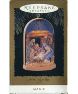 Vintage Hallmark Keepsake Christmas Ornament - Let us Adore Him - Light ... - $5.93