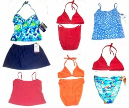 Christina Bikini Swimsuit Tops and Swimsuit Bottoms Separates Jrs Size 8... - $17.09+