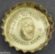 Vintage Coca Cola NFL All Stars Bottle Cap New York Giants Roosevelt Brown Coke - $6.99