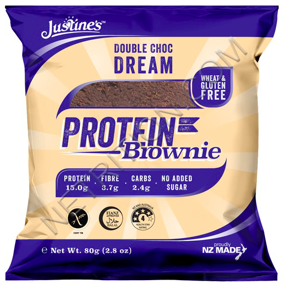 Primary image for Keto: Justine's Protein Brownie Double Chocolate 4 ct low carb (2.4 carbs)
