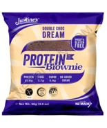 Keto: Justine's Protein Brownie Double Chocolate 4 ct low carb (2.4 carbs) - $25.25