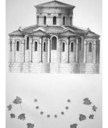 FRANCE Clermont-Ferrand Basilica Apse  - SUPERB 1843 Lithograph Print - $21.60