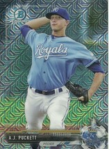 2017 BOWMAN CHROME MEGA BOX MOJO REFRACRTOR BCP4 A.J. PUCKETT RC ROYALS - $1.89