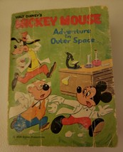 Vintage Mickey Mouse, Adventure In Outer Space. A Big Little Book 1968 W... - $4.94
