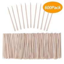 Senkary 600 Pieces Wooden Waxing Sticks Small Wax Sticks Wax Applicator Sticks W