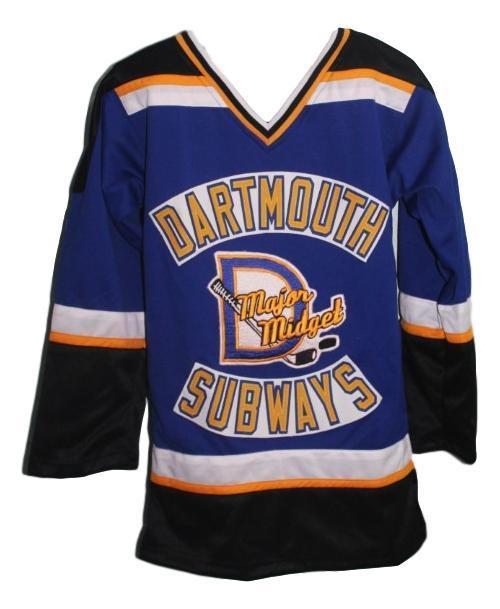 Sidney crosby dartmouth subways hockey jersey blue   1