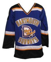Sidney Crosby Dartmouth Subways Retro Hockey Jersey New Blue Any Size image 1