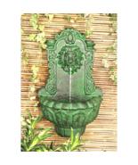 Cas Del Lago Lion Head Wall Niche Sculptural Fountain - $135.99