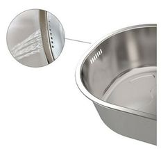 Incroma Stainless Steel Dishpan Basin Dish Washing Bowl Bucket Basket Tub image 3