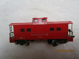 Vintage American Flyer Train Railroad Car Red Caboose READING 630 w/ Light - $12.99