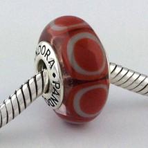 Authenthisch Pandora Murano Glas Steine Orange Perle Anhänger 790912 Neu - $43.27