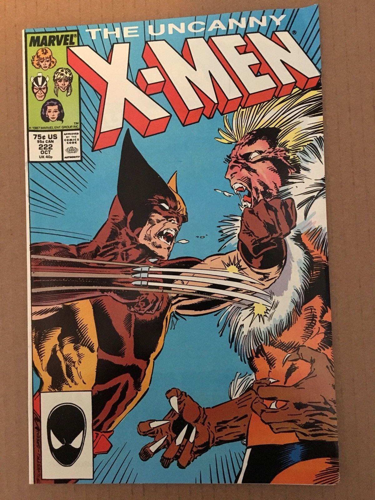 Uncanny X-Men 1st Series #222 1987 NM Condition Wolverine Marvel Comic Book