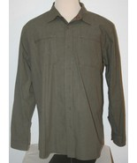 "THE NORTH FACE Olive Green Plaid Casual Shirt XL Chest: 50"" Long Sleeves... - $19.28"