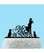 Buythrow® Wedding Cake Topper Bride And Groom Silhouette Personalized - $26.41
