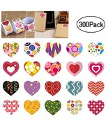 Heart Stickers Valentine Stickers for Kids, 3 Rolls Adhersive Stickers w... - $38.78