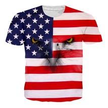 2018 Summer Popular New Womens/Mens flag eagle animal  Funny 3D print T-Shirt - $36.80