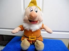 """DISNEY Happy Dwarf Plush Doll 11"""" sitting CUTE - $9.10"""