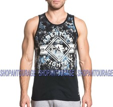 AMERICAN FIGHTER Massachusetts FM6305 Men`s New Black Tank Top By Afflic... - $29.71