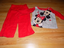 Size 18 Months Disney Minnie & Mickey Mouse 2 Piece Sleepwear Set Pajama... - $12.00