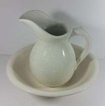 McCoy Pottery Pitcher Basin Lot Speckled Spotted Vintage USA 7527 Carafe... - $39.99