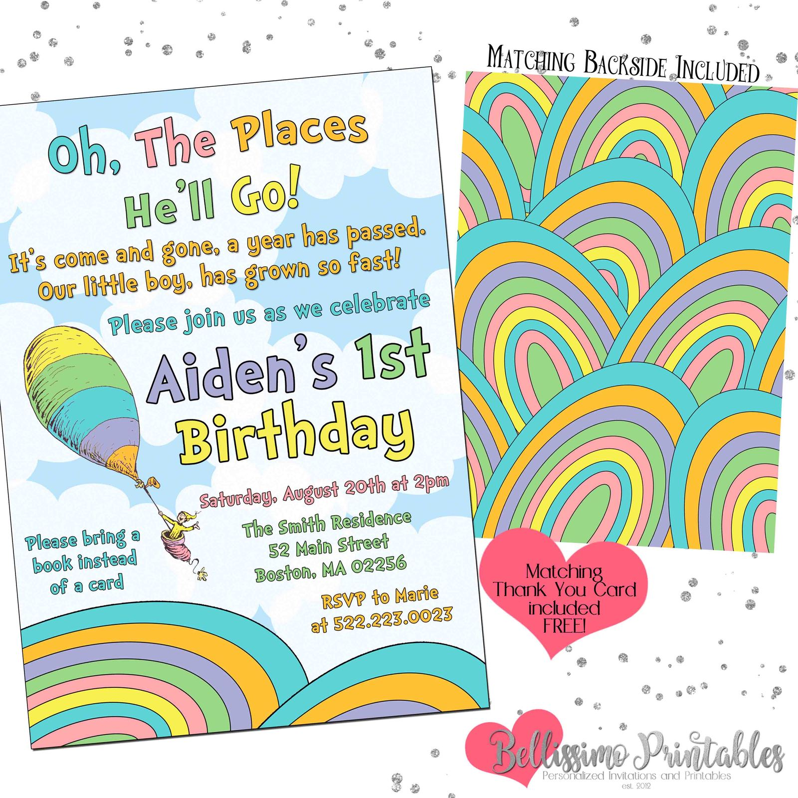 Printable Oh The Places You Ll Go Boy Invite Listing
