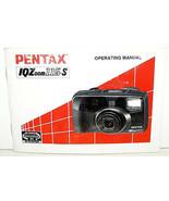 PENTAX IQZoom 115-S  OPERATING MANUAL - ORIGINAL 1992 - $8.15