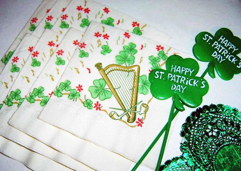 ST. PATRICK'S DAY  - Large Lot of Vintage Decorations