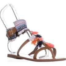 Betsey Johnson Low-Heel T-Strap Sandals, Gold - $28.99