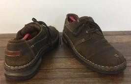 Clarks Leather Casual Shoe Men 12 Split Toe 35166 Clean No Damage - $49.49
