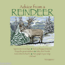 Reindeer Sweatshirt S M L XL Advice From Nature Sweatshirt NWT Green - $25.25