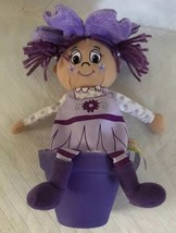 "Best Flower Buds 2011 Violet Purple Flowerpot Doll 8"" Soft PVC Pot Stitched - $9.99"