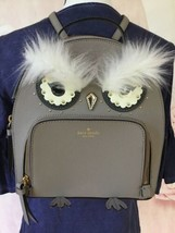 Kate Spade Star Bright Owl Tomi Cityscape Grey Leather Backpack WKRU5674 $329NEW - $115.00