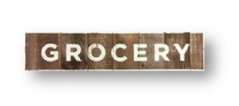 Item 3369 - Grocery - rustic cedar board sign - Kitchen -  approx size 8... - $55.00