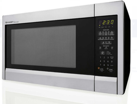 Sharp R451ZS 1.3 cu. ft. Countertop Microwave Oven with 1,000 Watts - $96.03