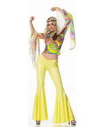 Go-Go Dancer Hippie Pants and Top Set Halloween Costume size M/L 83109 - $49.99