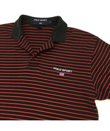 Polo Sport by Ralph Lauren Polo Shirt Size Small Black Red Striped Spell... - $19.99