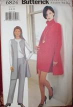 6824 Vintage UNCUT Butterick Sewing Pattern Vest Skirt Pants 6 8 10 - $4.83
