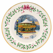Lenox Annual Holiday Collector Plate 2014 Carousel Limited Edition $120 New - $49.90