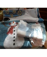 Christmas winter snowman decorative shower curtain and  towels - $25.50