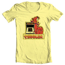 Nibbler T-shirt retro arcade video game 80s 100% cotton graphic yellow tee image 2