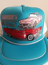 OLD VTG Ford T-Bird, 56 & 57 in 3-D Graphics on a new white mesh Trucker... - $20.00