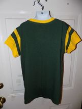 NFL TEAM APPAREL GREEN BAY PACKERS V-NECK T-SHIRT SIZE 10/12 GIRL'S EUC image 3